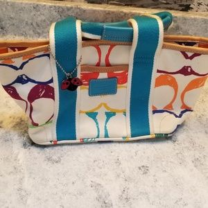 Coach Purse, small and colorful